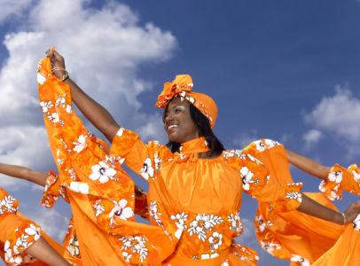 Caribbean dancing troupe